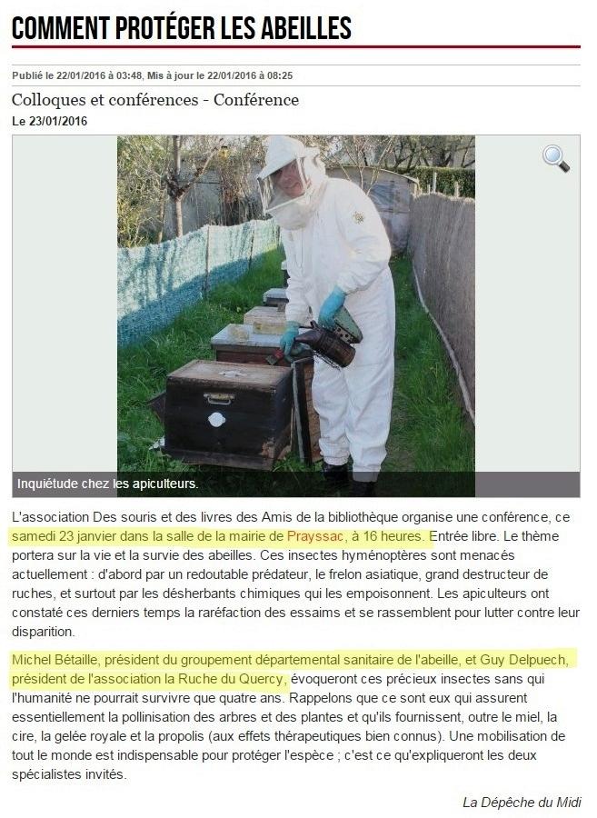 conf rence comment sauver les abeilles prayssac 23 janvier la ruche du quercy. Black Bedroom Furniture Sets. Home Design Ideas
